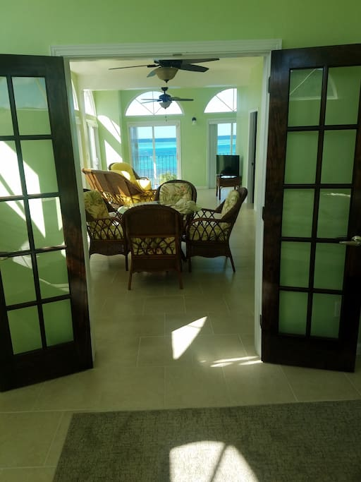 Inviting space with french doors