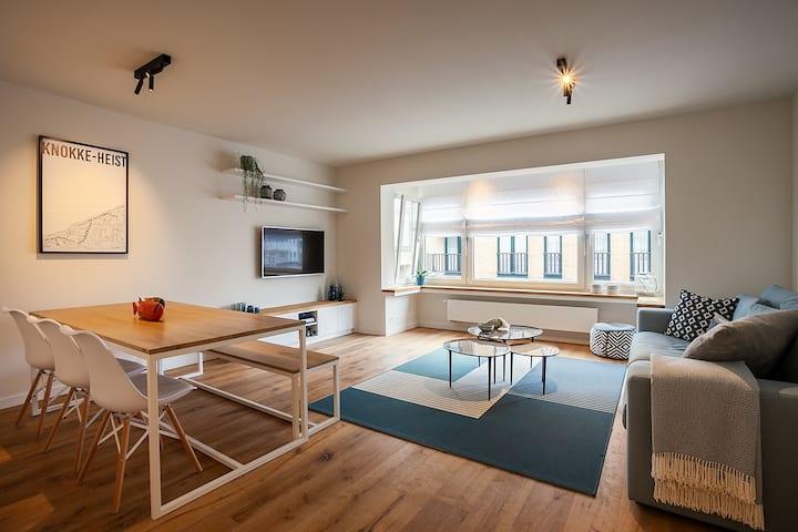 2 slaapkamer appartement met zeezicht+strandcabine