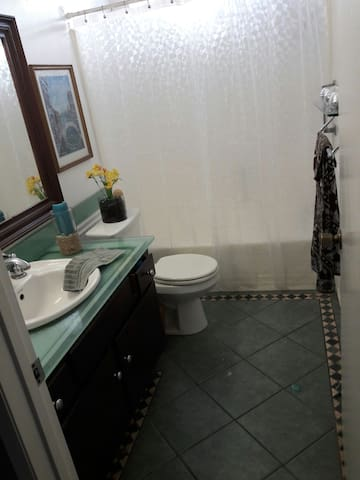 Bathroom for guests - Comes 7with Shampoo, Conditioner 7 0, Soap and Towels