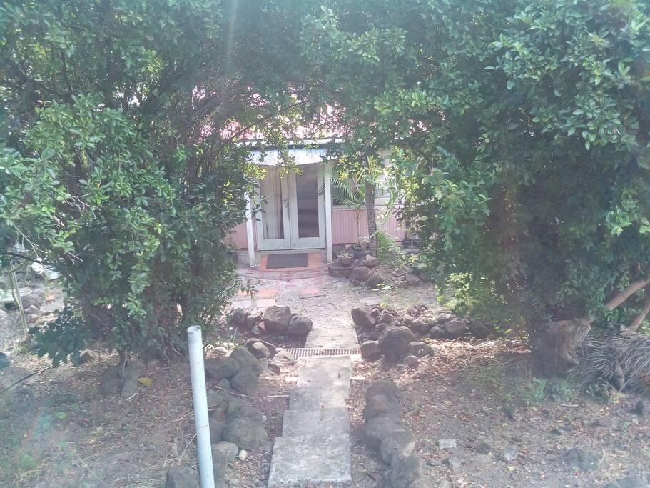 Rustic garden entrance