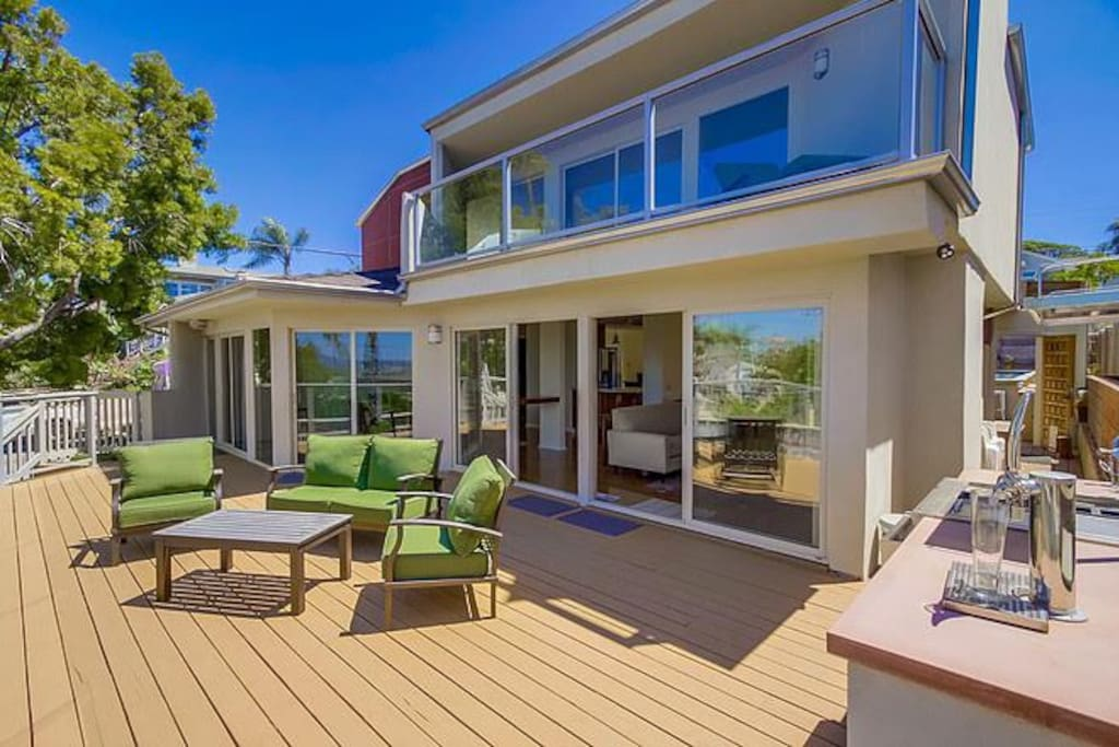 Welcome to Gorgeous Getaway with a large, sunny ocean view deck.
