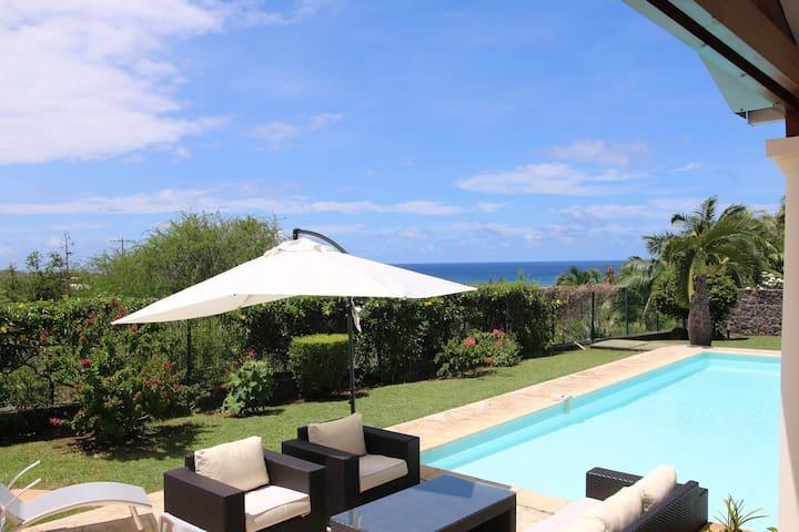 Villa avec piscine vue mer, 4 chambres