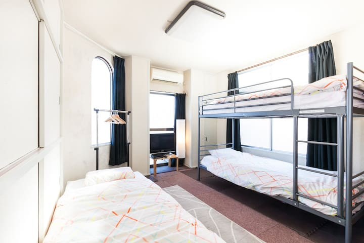 The best room for 5 (up to 6). Near to Ikebukuro. - Toshima-ku - Pis