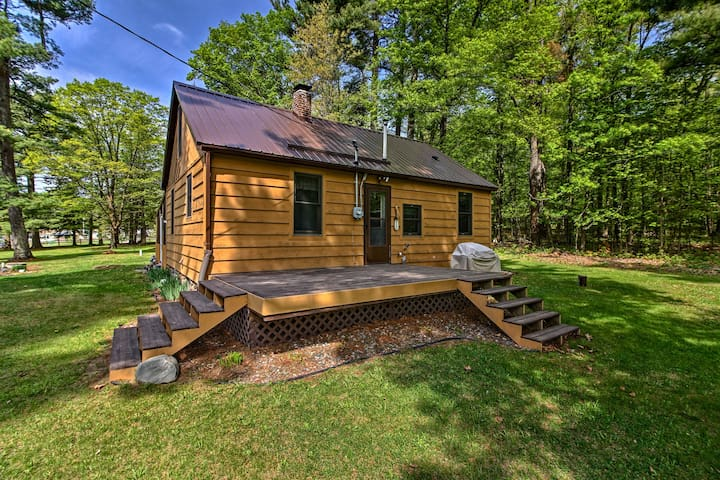 Rustic Cloquet Home w/ 3-Season Porch & Fire Pit