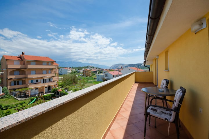 One bedroom Apartment, 200m from city center, in Lopar - island Rab, Terrace
