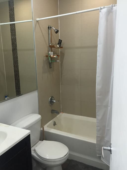 """""""Big"""" (for New York) bathroom and shower"""
