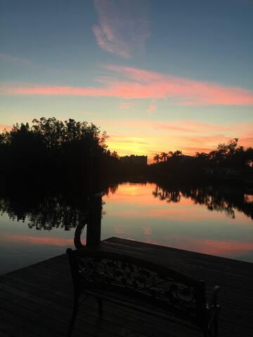 Sunset on the Bayou