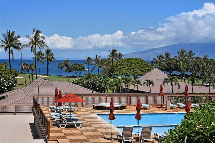 MAUI ELDORADO : TOP FLOOR, CORNER UNIT, Partial Ocean View, Kaanapali Beach - G201