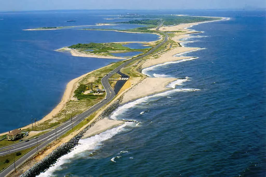 We're out at the end of magnificent Sandy Hook, NJ within Gateway National Recreation Area.