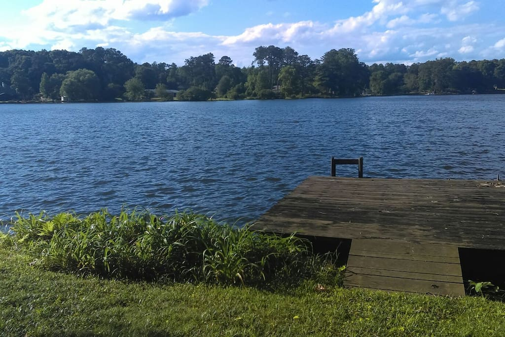 The view of our beautiful lake.