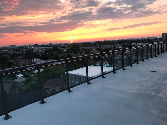 Watch sunrise & sunset on stunning 1,000 sq. ft. wraparound terrace. Great for hosting events such as birthdays, baby showers etc.