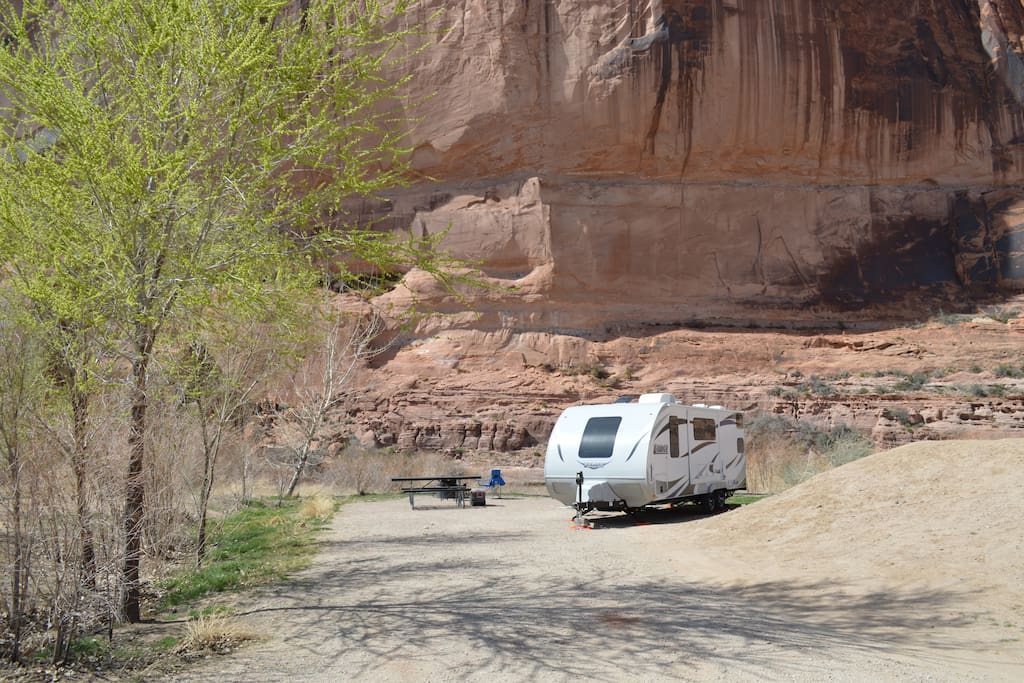 Potential RV Delivery Location. Gooseberry right by Colorado River and Moab downton. Dry camping. So MANY locations to choose from!!! We can recommend spots.
