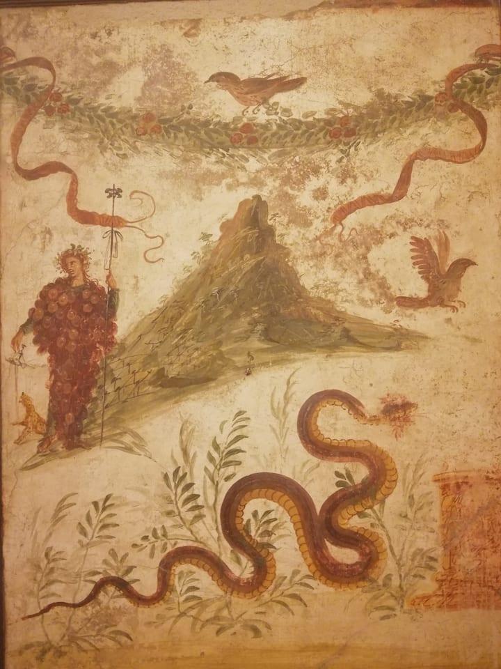 Bacchus and the Vesuvius