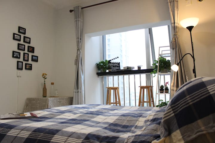 Cozy sunny double room·Twin City hostel - Xi'an - Apartamento