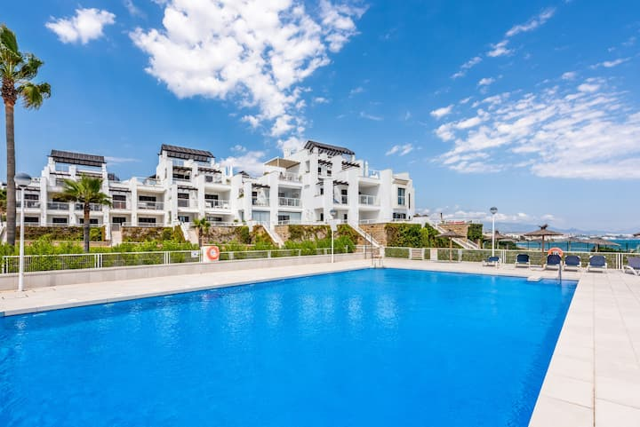 Stunning beachfront 2 bedroom apartment in Casares