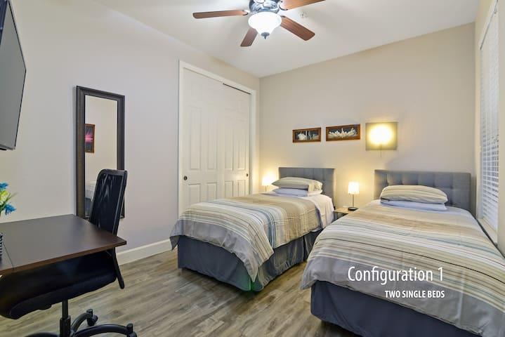 Private Room/w Bath Close to Disney