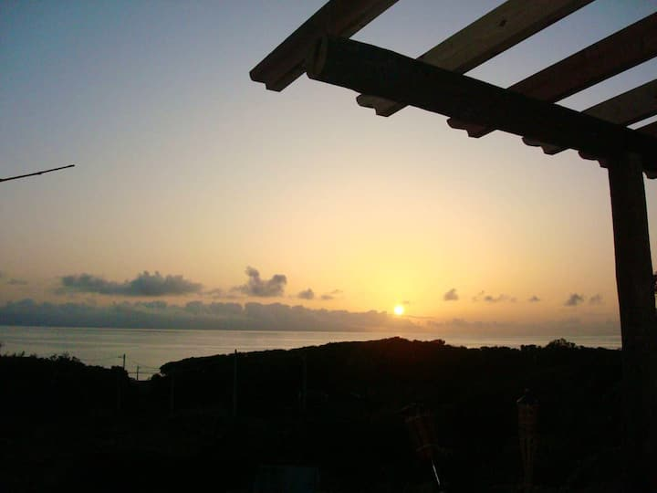 House with 2 bedrooms in Prainha, with wonderful sea view, furnished terrace and WiFi
