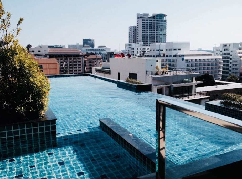 rooftop swimming pool at 8th floor