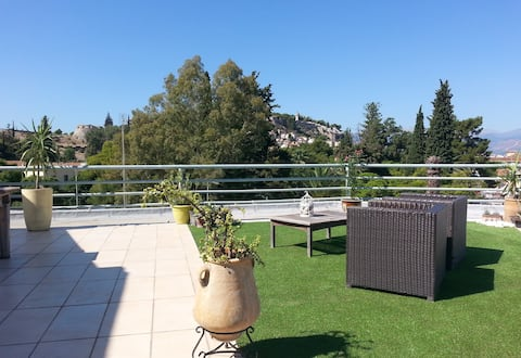 Δώμα / Penthouse with a wonderful view in Nafplio