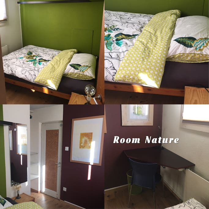 The single room. The morning sun is welcom you in that room. Its nice and small with all you need to stay comfortable. Price/night 50.-CHF