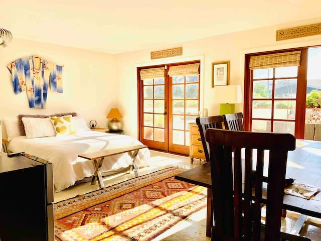 Master bedroom/studio