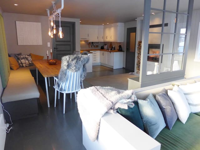 Modern and beautiful cabin in Eikedalen/Kvamskogen