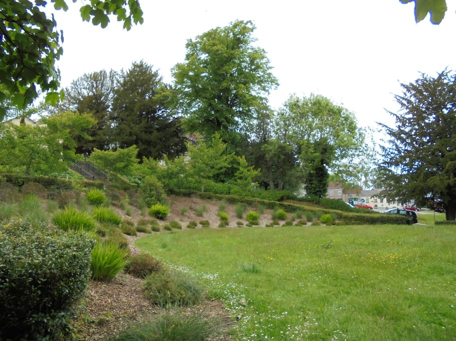 This is one of the many lovely parks dotted around the town.. short cut through it on the 7 minute walk to the Gwent