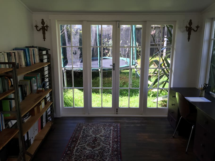 looking towards the french doors