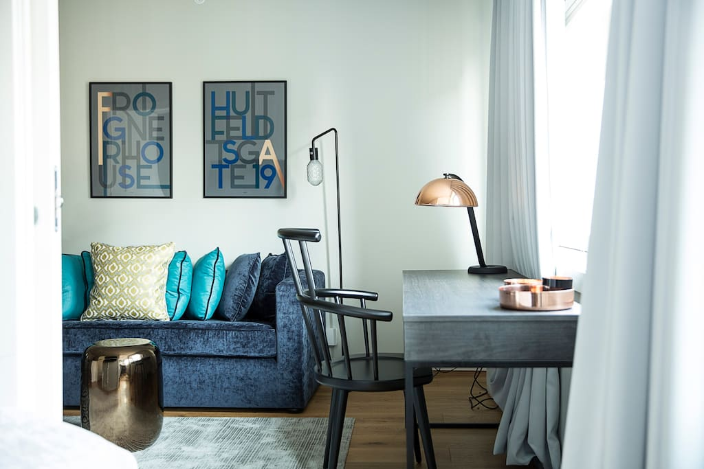 Sofa and desk