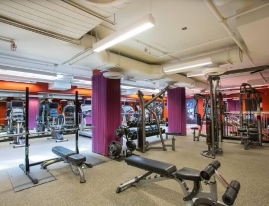 24 hour fitness center.