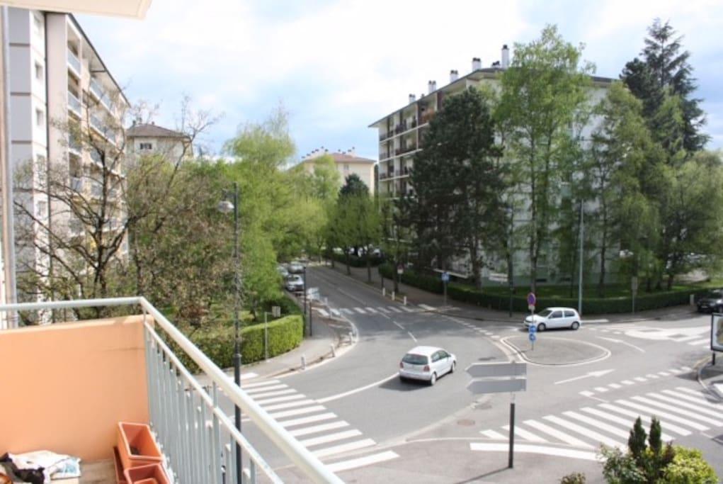 Vue depuis le balcon ouest