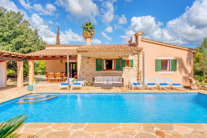 Villa Joana with Mountain View, Wi-Fi, Garden, Pool & Terraces; Parking Available