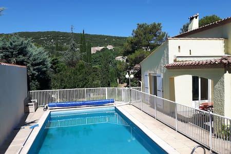 Villa, calme, jardin, piscine, proche Montpellier - Vailhauquès