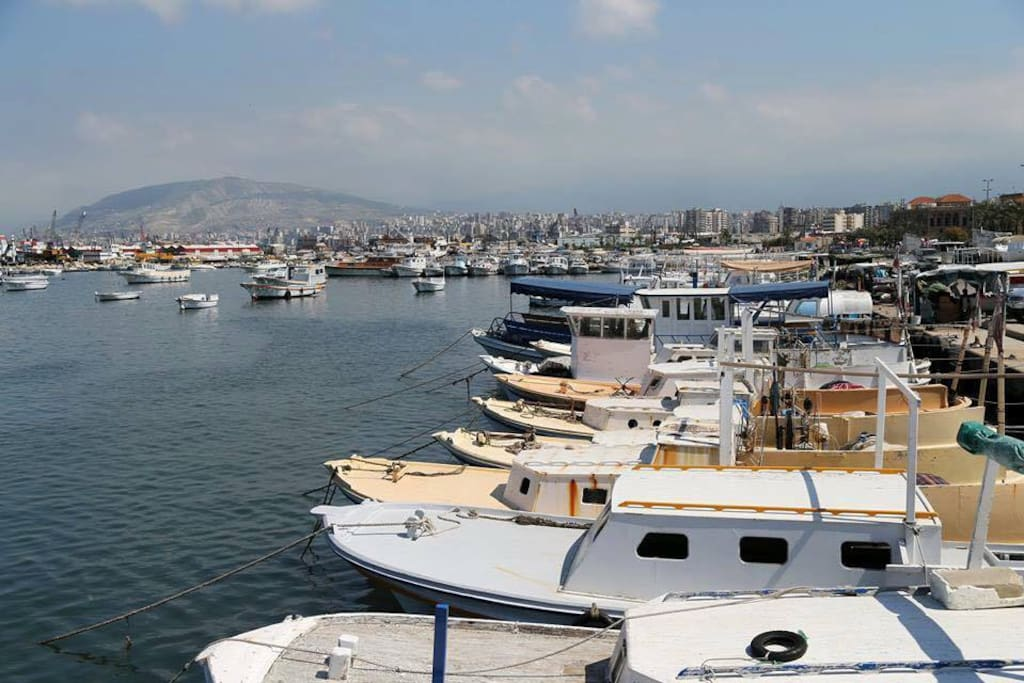 Marina Tripoli, a step away from the building