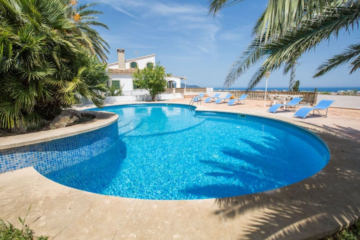 NA PENYAL - Beautiful traditional villa with sea views and private pool. Free WiFi