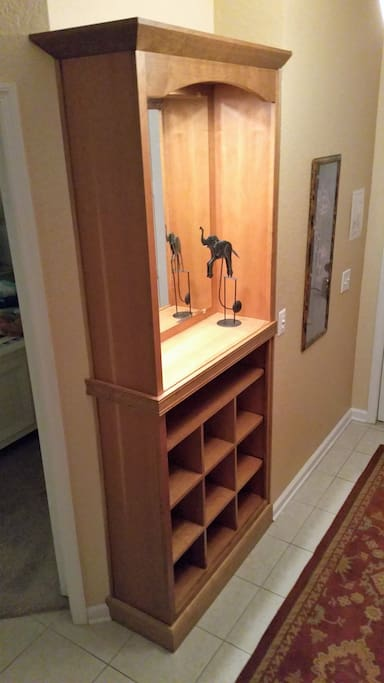Unload right at the door- Shoe and Bag storage