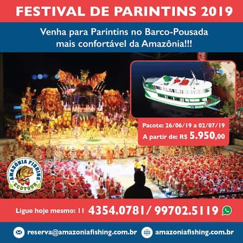Festival de Parintins com o Barco-Pousada