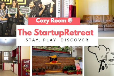 COZY ROOM @ STARTUP RETREAT - Bangalore - Departamento