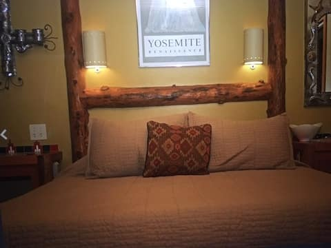 Romantic Lodgepole Room inside Yosemite Park