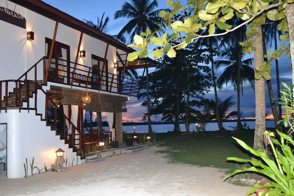 perfect beachfront setting