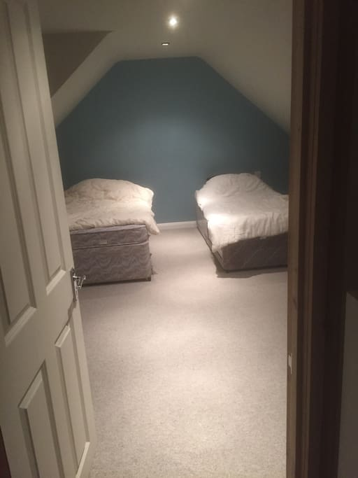 Two single beds which can be joined together
