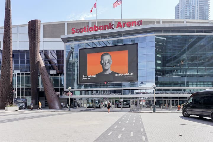 Scotiabank Arena, next door!