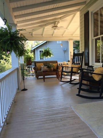 Huge wrap around porch makes an additional living/entertaining space!