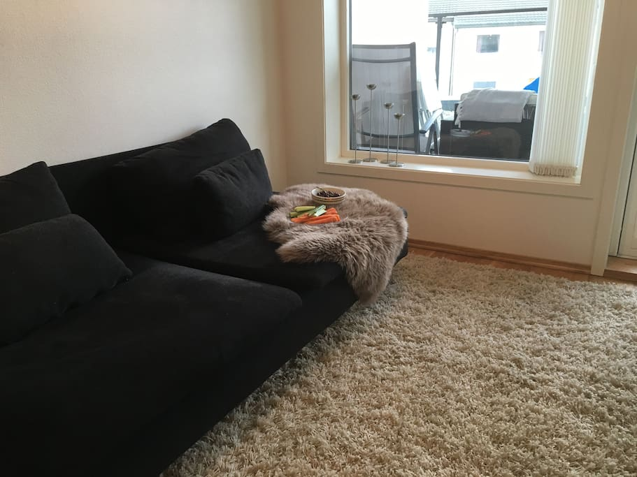 Comfy couch... With snacks