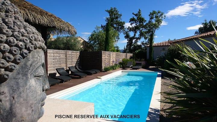 Villa BALI pour 2 (adult only), wifi, clim, 56m2