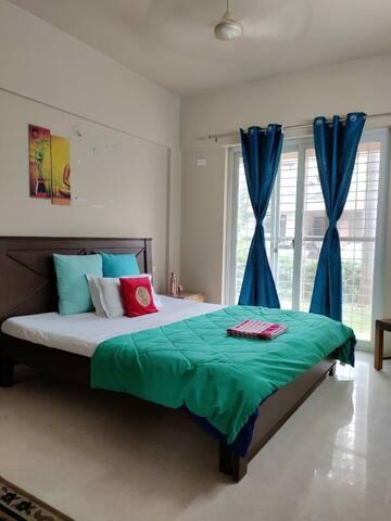 Peaceful 1 Private Room +Kitchen+ Garden@Hinjewadi