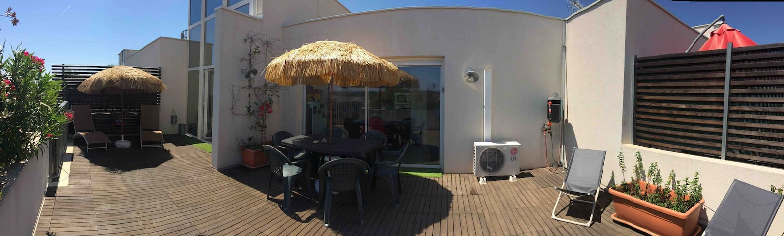 Nice Appart 50 m2-Terrace 40 m2 Domained'O/Malbosc
