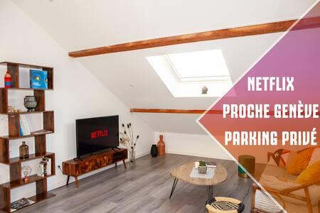 Appartement Cozy Meublé Netflix + Parking Privé