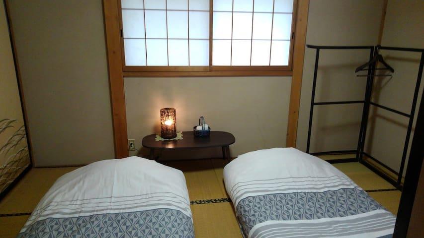 Photo of Japanese-style futon spread  on the second floor.