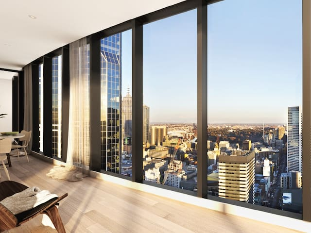 Brand new L30 apartment with Stunning city view - Melbourne - Appartement